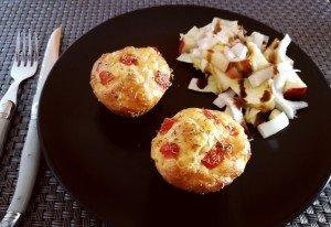 Muffins légers au poulet et aux herbes de Provence