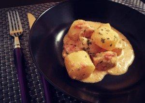 Aiguillettes de dinde et ses pommes de terre à la sauce Boursin